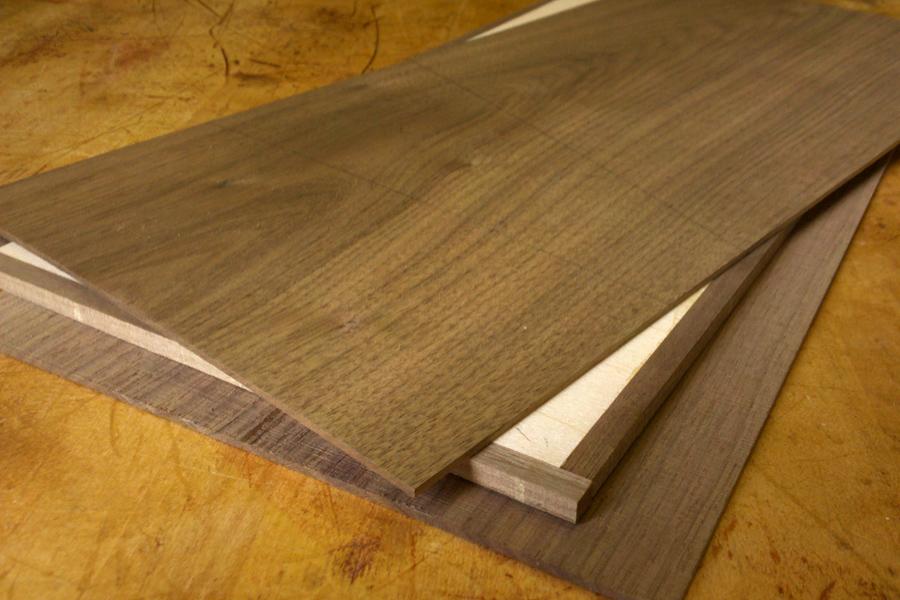 Spray adhesive wood veneer