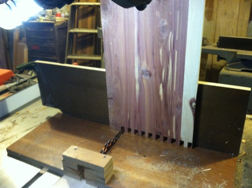Drawer side and box joint jig.