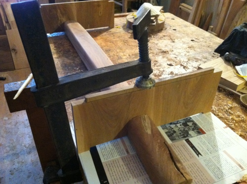 Cradle type base for the chest of drawers I'm making.